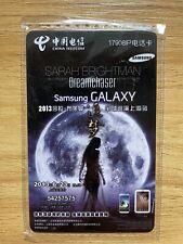 Sarah Brightman Shanghai Live Concert 2013 China 1st Phone Card Sealed