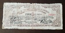 Philippines Currency Money Emergency CIRCULATING note ARMY OF THE UNITED STATES
