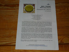 NEIL YOUNG  - PSYCHEDELIC PILL / 2 PROMO-FACTS-BLÄTTER (DIN-A-4) 2012 WARNER