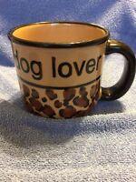 "DOG MUG GRAPHIC LARGE ""DOG LOVER"" CERAMIC POTTERY Pet-Rageous Design TEA COFFEE"