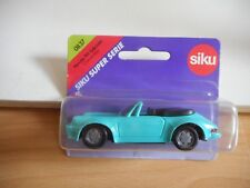 Siku Porsche 911 Cabriolet in Light Blue on Blister