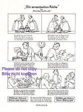 Margarine Palmin & Palmona XL Reklame 1913 Ivo Puhonny * Cartoon Oma Korb +