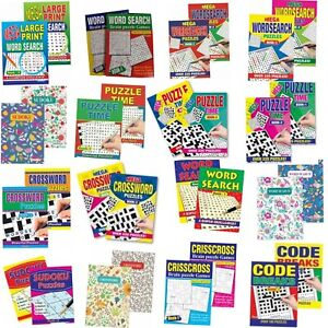 2x Word Search puzzle books Crosswords/CrissCross/Large Print Choice of 11