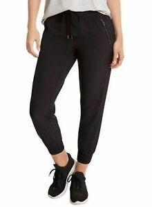 NWT! Danskin Ladies' Woven Jogger Adjustable Drawcord  Zippered Pockets XL