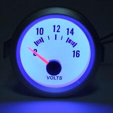 Manomètre Voltmètre Volt Gauge 2'' 52mm 12V Bleu LED Compteur Tension Blanc Auto