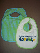 Excellent Quality Baby Bib Set - Lined Backing & Hook & Eye Closure BRAND NEW !!