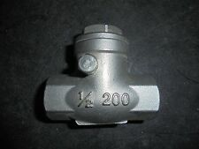 14171401 New-No Box, TCI  Swing Check Valve, SS, Inline, 1/2 FNPT