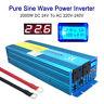2000W/4000W Pure Sine Wave Power Inverter DC 24V to AC 230V Lorry Converter UK