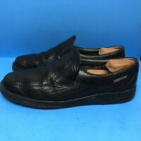 Mephisto Mens Air Jet Leather Loafers Slip On 100% Caoutchouc Black Shoes 11.5