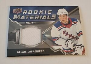 R61,001 - 2020-21 UD Series 2 Rookie Materials Jersey Alexis Lafreniere Rangers