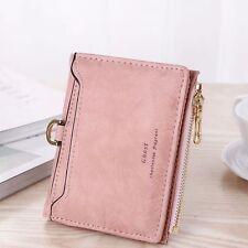 US Womens Leather Small Mini Wallet Card Holder Zip Coin Purse Clutch Handbag