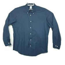Brooks Brothers Mens Regent Fit Blue Floral Button Down Long Sleeve Shirt Sz XL