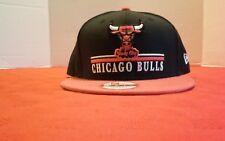 NEW ERA 59FIFTY Chicago BULLS NBA Baseball Cap Hat Cap Black Red White 28b39d03b945
