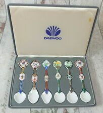 Vintage Daewoo Jung Won Ceramic Olympics Spoons Collectables 6 piece set