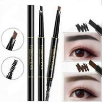 Woman Double Head Automatic Rotate Waterproof Eyebrow Pen With Brush Makeup Tool