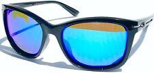 NEW* Oakley DROP IN BLACK Polished POLARIZED GALAXY Blue Women's Sunglass oo9232