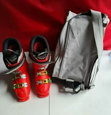 Solomon Falcon 90 Red Ski Boots Size 26.0 With Head Carry Bag