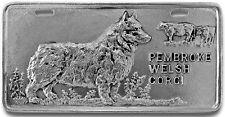Pembroke Welsh Corgi Pewter Vanity Plate