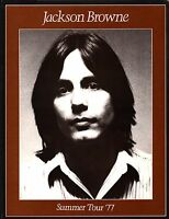 JACKSON BROWNE 1977 RUNNING ON EMPTY SUMMER TOUR CONCERT PROGRAM / NM 2 MNT