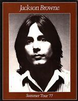 JACKSON BROWNE 1977 RUNNING ON EMPTY SUMMER TOUR CONCERT PROGRAM / NMT 2 MINT