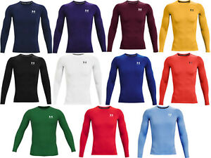 Under Armour Men's HeatGear Long Sleeve Compression Shirt-1361524-FREE SHIPPING