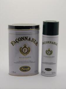 FACONNABLE EDT Spray for Men 3.3 fl oz / 100ml + 250ml Body Spray