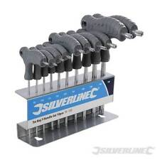 Heavy Duty 10pc Silverline T9-T50 T-Handle TRX Torx Hex Key Stand Set New