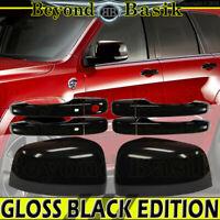 Door Handle COVERS WSKH+Mirrors for 2011-2021 GRAND CHEROKEE DURANGO GLOSS BLACK