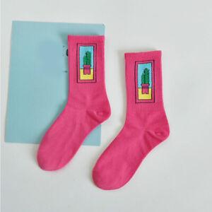 Cute Funny Cartoon Women Cotton Socks Winter Tube Sock Ladies Painting Crew Sock