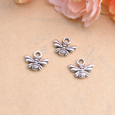 50/100Pcs Tibetan Silver Bee Charm Pendant Jewelry Findings  Free Ship #87
