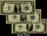 $1, $5 , $10 - 1934 Silver Certificate