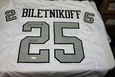 OAKLAND RAIDERS FRED BILETNIKOFF #25 SIGNED AWAY JERSEY SB XI MVP HOF 1988 JSA