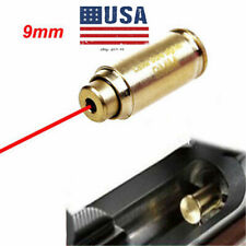 US 9mm Red Laser Bore Sight CAL Brass Cartridge Bullet Shap Boresighter Battery