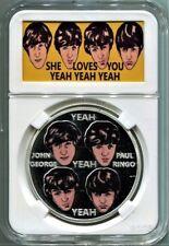Beatles Silver She Loves You Commemoration Medal in 1960's Novelty Art  Case