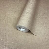 Wallpaper Modern cocoa mocha beige gold metallic stria lines Plain Textured roll