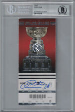 Patrick Kane Autographed Chicago Blackhawks Stanley Cup Ticket BAS Slab 25262