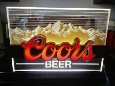 1980'S Coors Indoor Light Up Sign Coors Edgelight Advertising Mountains Rockies