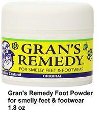 Gran's Remedy Foot Powder Unscented For Smelly Feet&Footwear Original 1.8 oz 50g