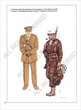 PLANCHE UNIFORM PRINT WWII Foreign Volunteer of Allied Forces Volontaires Alliés