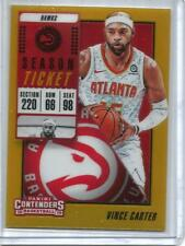 Vince Carter 18/19 Panini Contenders Gold Prizm #08/10