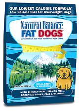 Natural Balance Fat Dogs Chicken & Salmon Formula Low Calorie Dry Dog Food, 28-P