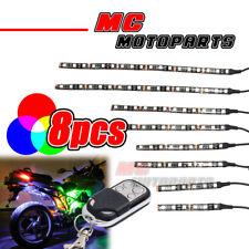 Strobe 12V RGB LED Light Bar x8 For VRSCF V-Rod Muscle Road King
