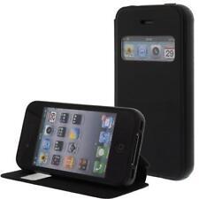 similicuir Pochette pour téléphone cellulaire Pour Apple iPhone 4S/4G Noir -