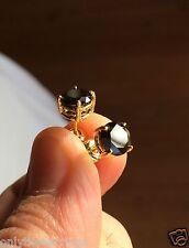 Mens Ladies 14K Gold 1.25 Ct. Black Lab Diamond Screw Back Stud Earrings 6mm