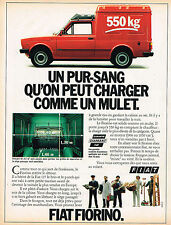 PUBLICITE ADVERTISING 114  1980  FIAT  FIORINO  550 kg