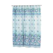 Carnation Home Fashions Oceanic Sea Shell And Fish Shower Fabric Curtain