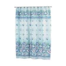 Beach Island Ocean Blue Shower Curtains