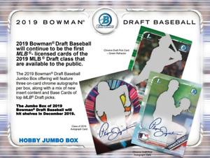 2019 Bowman Draft Baseball Live Hobby Jumbo 8 Box Case Player Break #1