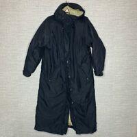 Cabelas Womens Sz M Premier Northern Goose Down Long Winter Coat Black
