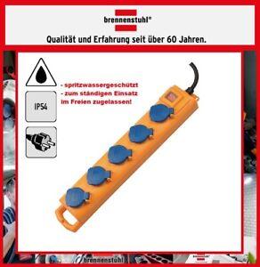 BRENNENSTUHL IP55 Outdoor 5-Fach Steckdosenleiste Super Solid SL 554 - bruchfest